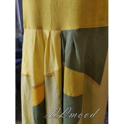 Linen dress  mosaic 577