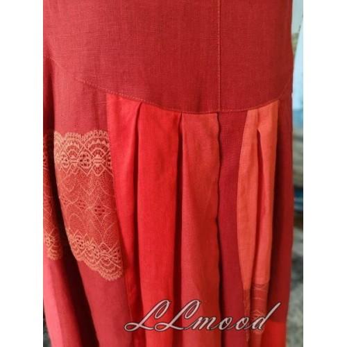 Linen dress  mosaic 578