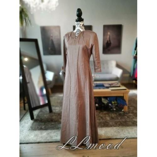 Long  linen dress with shine