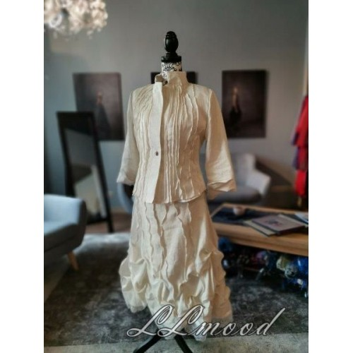 Ivory color linen jacket
