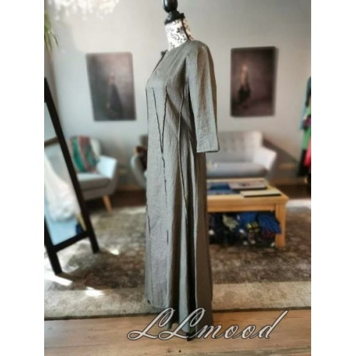 Long  linen dress with shine