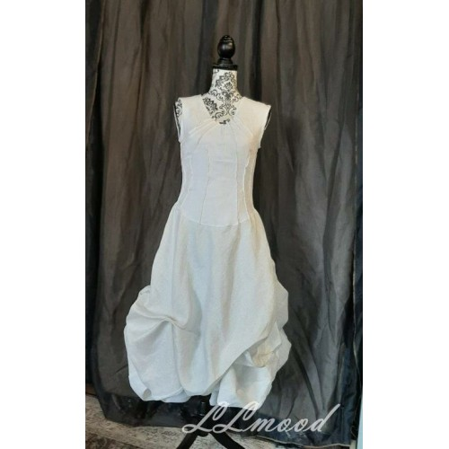 Linen dress with shine 574