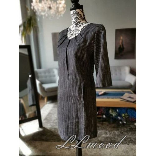 Linen dress with shine