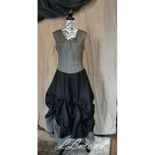 Long  linen dress with shine 575