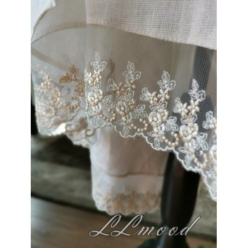 Linen skirt with shine
