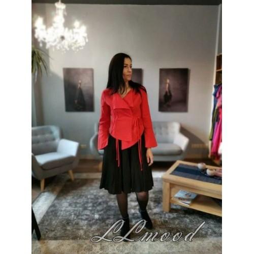 Linen blouse - jacket orange red