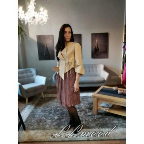 Linen blouse - jacket  beige color