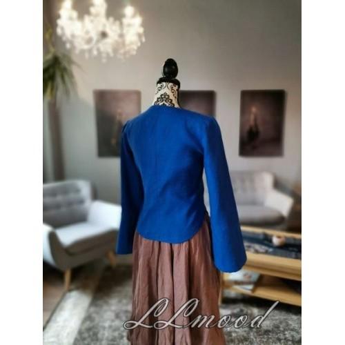 Linen blouse - jacket blue
