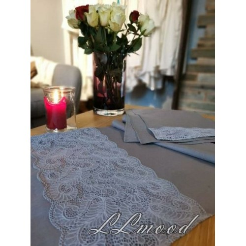 Linen tablecloth set 802