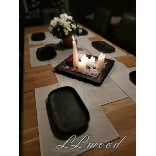 Linen tablecloth set 804