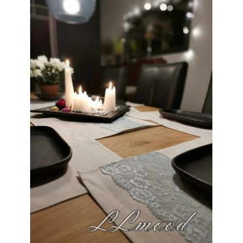 Linen tablecloth set 805