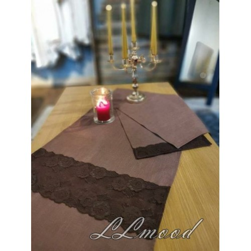 Linen tablecloth set 807