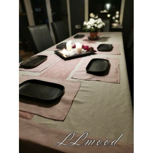 Linen tablecloth set 808