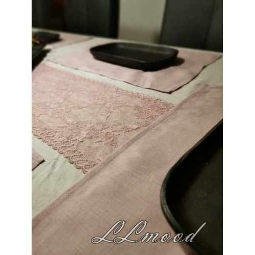 Linen tablecloth set 808