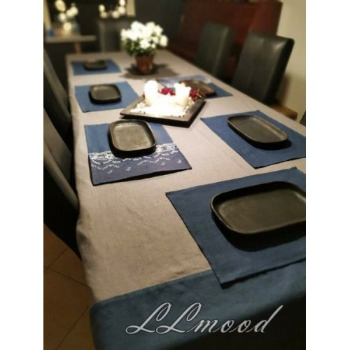 Linen tablecloth set 809