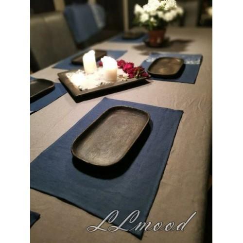 Linen tablecloth set 809