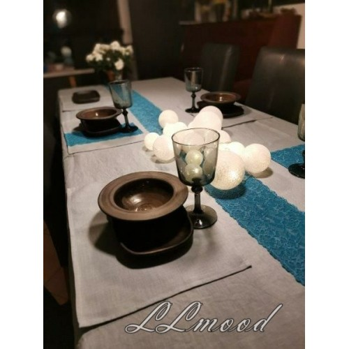 Linen tablecloth set 812
