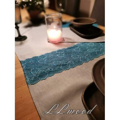 Linen tablecloth set 814