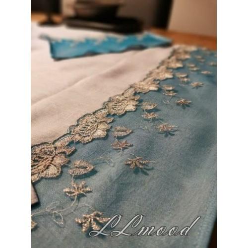 Linen tablecloth set 815