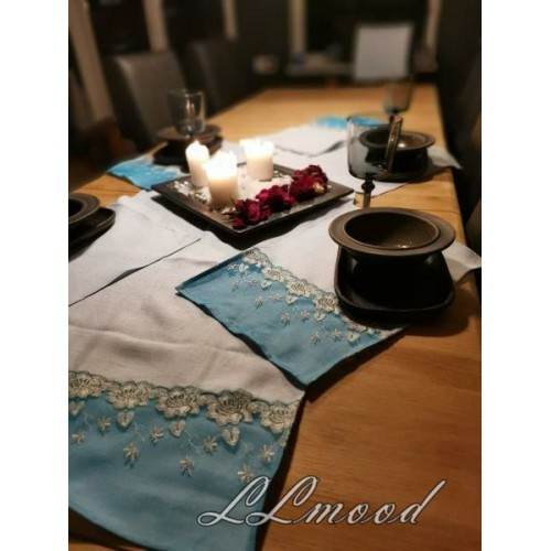 Linen tablecloth set 815