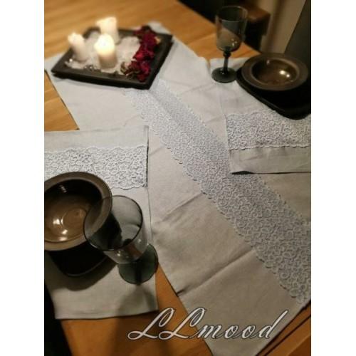 Linen tablecloth set 817