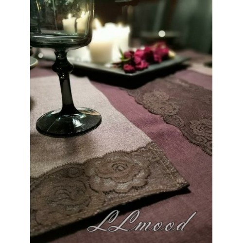 Linen tablecloth set 820