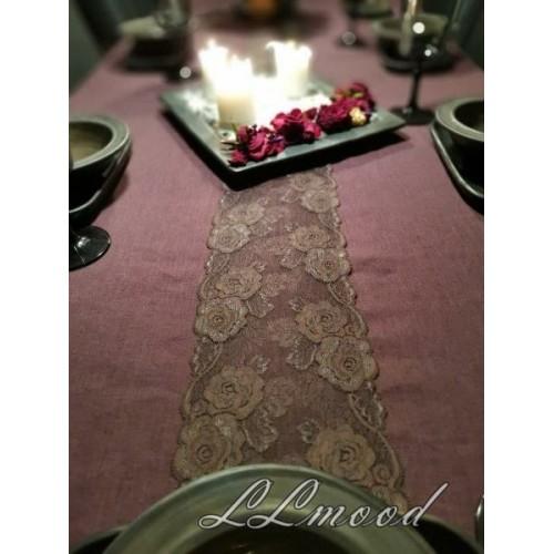 Linen tablecloth set 816
