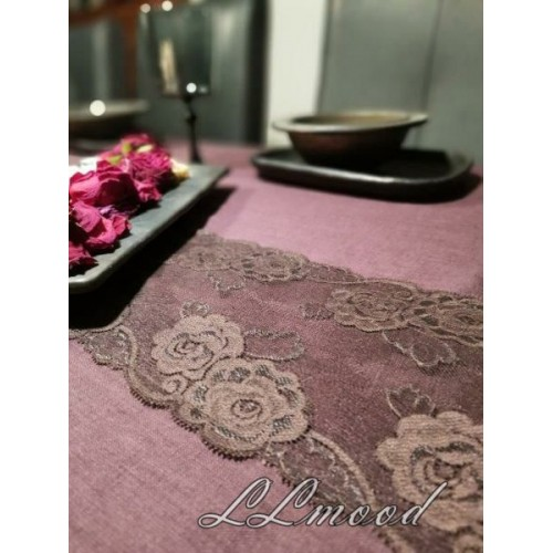 Linen tablecloth set 820