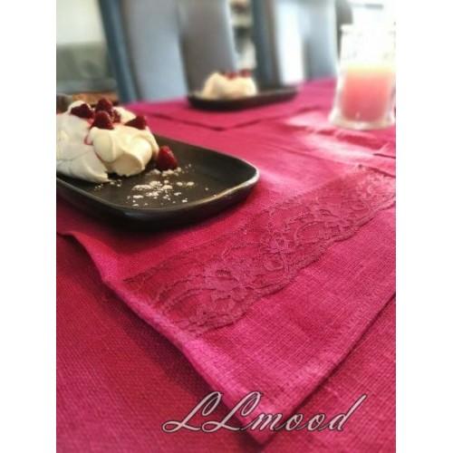 Linen tablecloth set 801