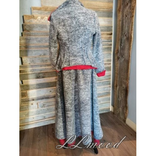 Wool jacket with linen lining